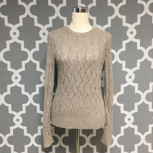 Loft Wool Blend Cable Knit Sweater : 10:J